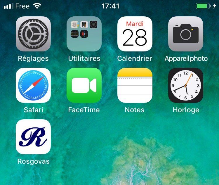 App Rosgovas sur Iphone : terminé